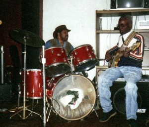 Floyd Bailey and Marshall Jones of The Ohio Players jamming.